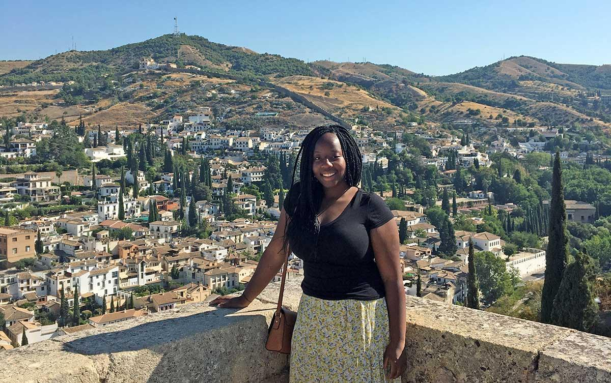Grace at the Alhambra Palace in Granada, Spain.