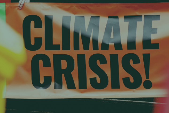Sign that says Climate Crisis