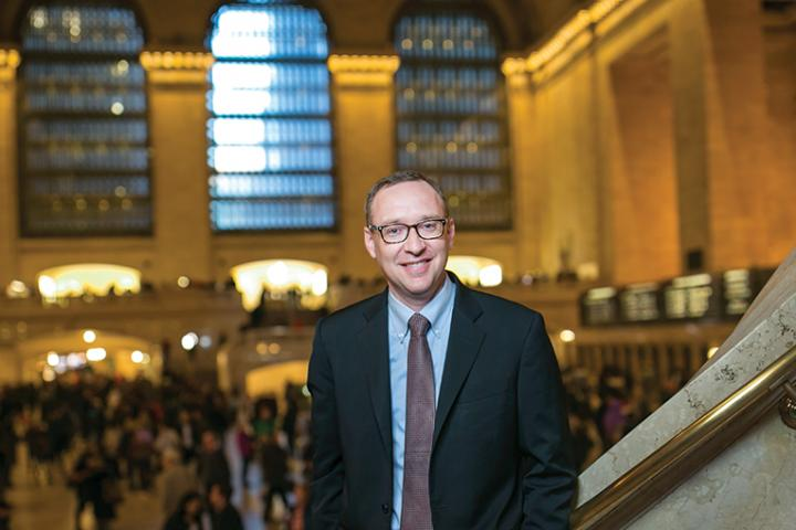 Photo: Kevin Hallock in Grand Central Station