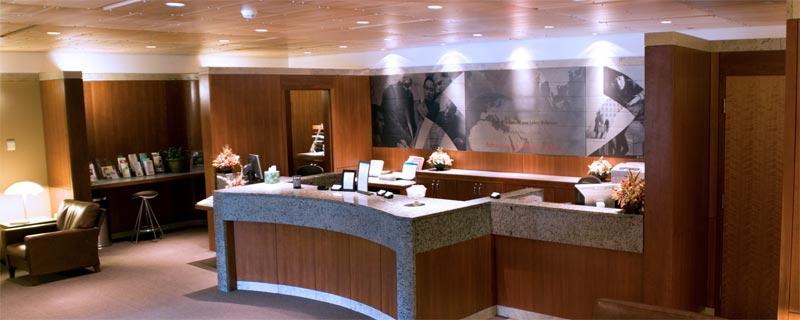 Conference Center reception desk