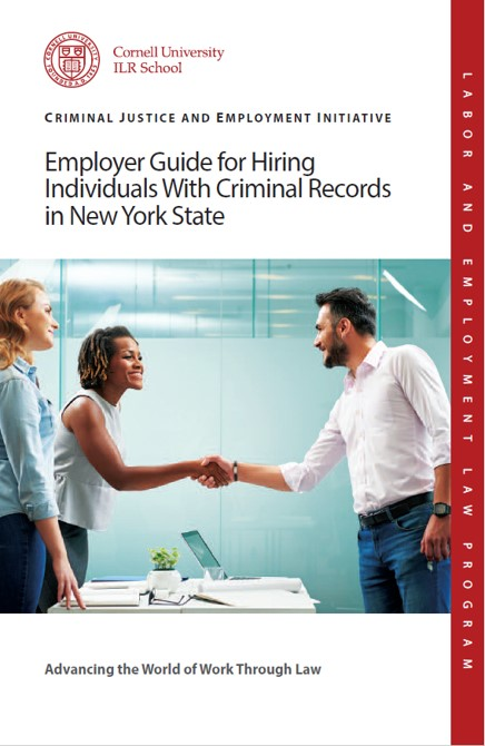 Cover of Cornell LEL CJEI Employer Guide for Hiring Brochure