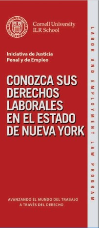 Cover of Cornell LEL CJEI Know your Employment Rights Brochure_Spanish