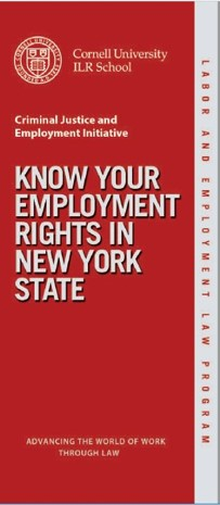 Cover of Cornell LEL CJEI Know your Employment Rights_English