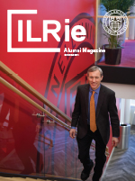 Cover of new Aumni magazine, ILRie, Winter 2018