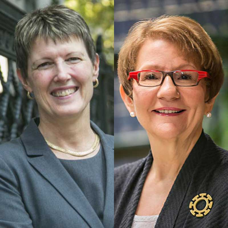 Linda Barrington and Esta Bigler