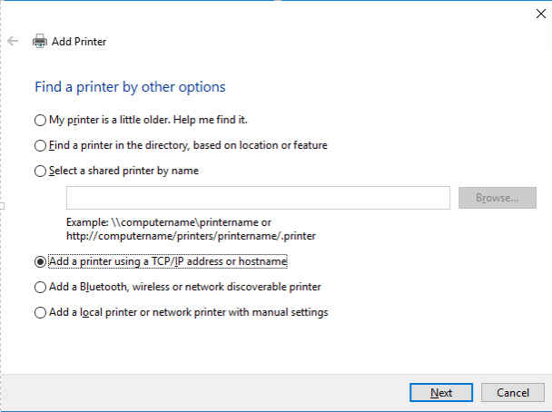 Add Networked Printer for Windows Using IP Address | The ILR School