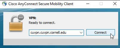 Mac dialog for tselection of VPN network for Cisco AnyConnect VPN connection