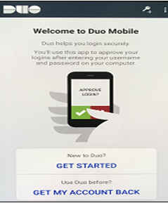 Duo Mobile Android get started dialog