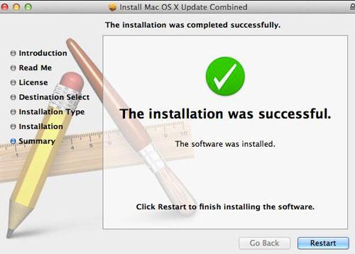 OS X Update dialog box