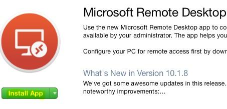 Install remote Desktop