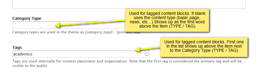 other category type tags