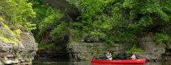 Students canoeing in Beebe Lake