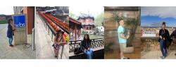 ILR  Exchange Banner II - five images of students exploring five different countries