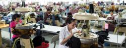 Workers in a Cambodian garment factory
