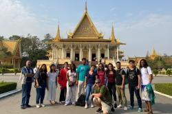 Students participating in the CU in Cambodia program studied global supply chains in the garment industry.