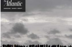 Atlantic cover showing a line of silhouetted people standing under a grey sky.