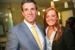 Alumni Association Finance Council member Tom Lee '91 and student Patricia Estrachman '17