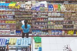 Women working in a grocery store