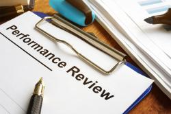 Performance review stock image