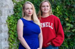 Phoebe Strom, M.S. '18, Ph.D. '21 and Kate Ryan '20