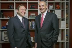 National Hockey League Commissioner Gary Bettman '74 and Major League Baseball Commissioner Rob Manfred '80