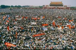 Huge crowd at Tiananmen worker protest