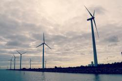 Photos of wind farms in Denmark