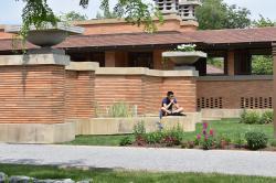 2017 High Road Fellow Nathanael Cheng at Frank Lloyd Wright's Darwin Martin House