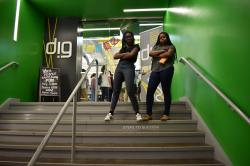 2017 High Road Fellows Maame Britwum and Kaya Coleman at the Innovation Center on the Buffalo Niagara Medical Campus