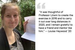 Louisa Heywood '20 quote image