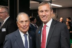 Michael Bloomberg poses with Dean Colvin