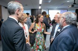 Guests mingle at Climate Jobs New York's Inaugural Gala