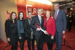 Ribbon cutting at the grand opening of ILR's new Manhattan hub