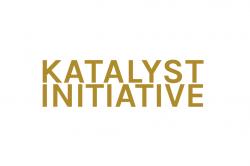 Katalyst Initiative logo, orange text stating katalyst initiative