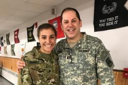 Claire Ramirez talks about life as a ROTC cadet