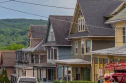 Buildings in Collegetown along College Avenue in Ithaca, N.Y.
