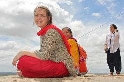 Estefania Palacios '18 studying in India