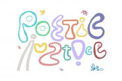 """The words """"Poetic Justice"""" written in bubble letters."""