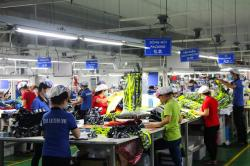 Garment workers at a factory