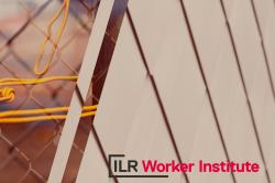 abstract texture with Worker Institute logo