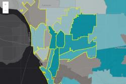 Arc GIS map of Erie County