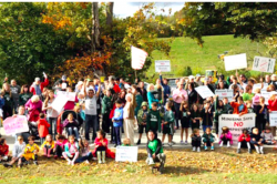 Protesters in Minisink