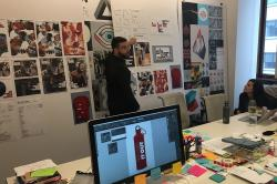 Photo: IDEO explains design decisions in their New York offices