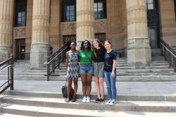 2017 High Roader Hannah Sosenko and Fellows on the steps of City Hall