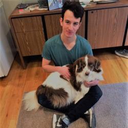 Asher Lipman and dog