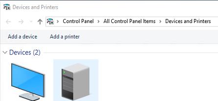 add a printer dialog box in windows 10