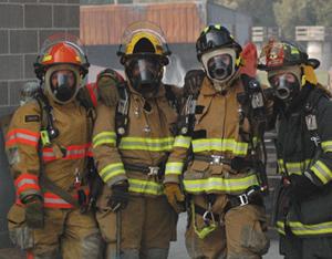 Four women firefighters