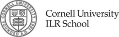 Cornell ILR School black and white logo