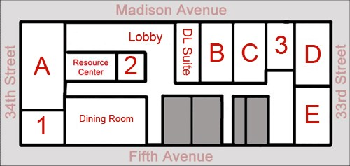 NYC Conference Center Floor Plan
