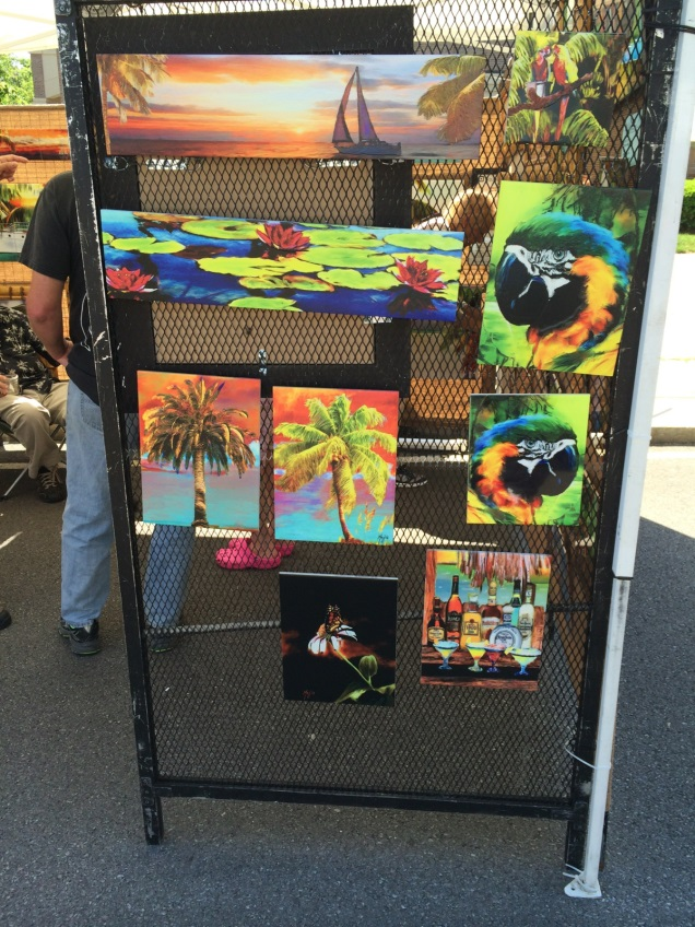 Paintings at the Allentown Art Festival